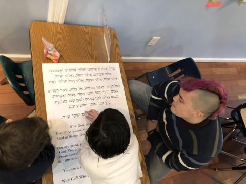 Child studying verses